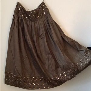 Full Skirt with Beads/Sequins